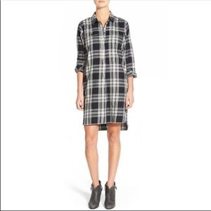 Madewell Plaid Long Sleeve 100% Cotton Shirt Dress